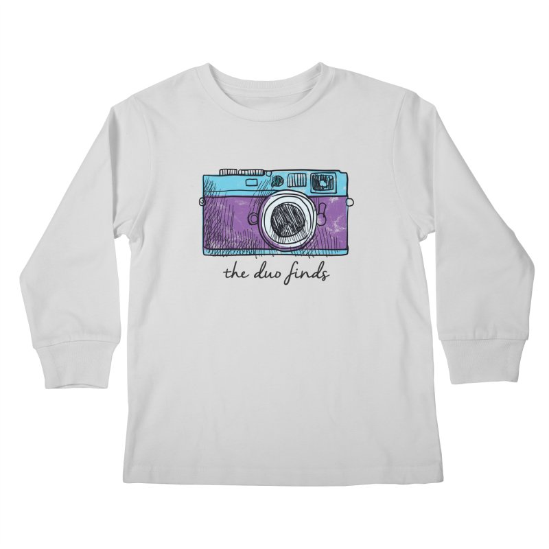"""The Duo Finds """"Camera"""" Logo Kids Longsleeve T-Shirt by The Duo Find's Artist Shop"""