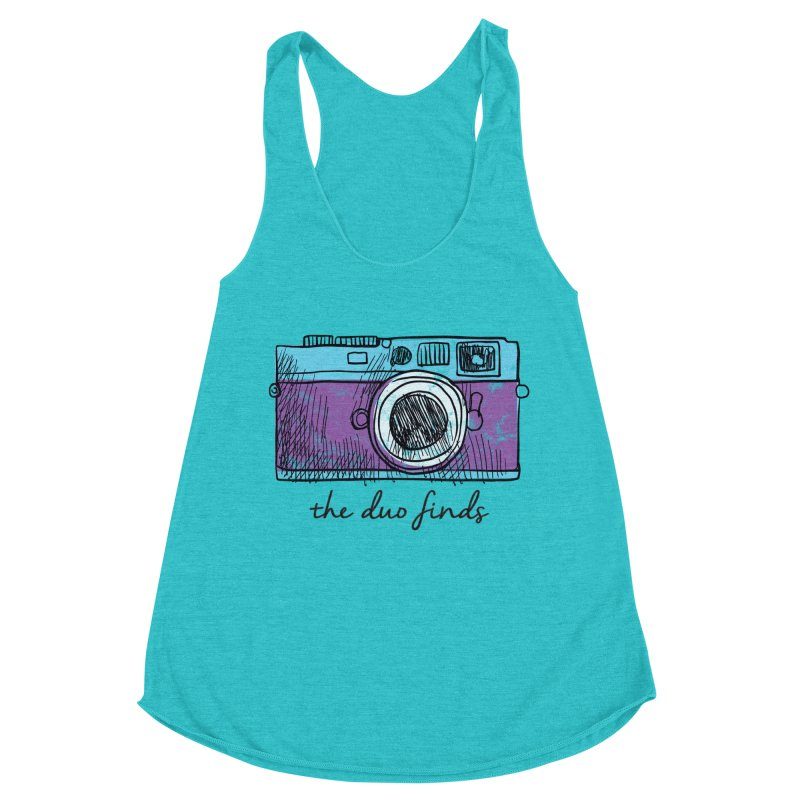 "The Duo Finds ""Camera"" Logo Women's Racerback Triblend Tank by The Duo Find's Artist Shop"