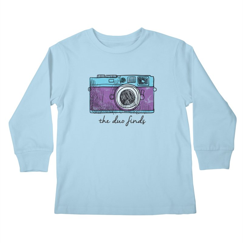 "The Duo Finds ""Camera"" Logo Kids Longsleeve T-Shirt by The Duo Find's Artist Shop"