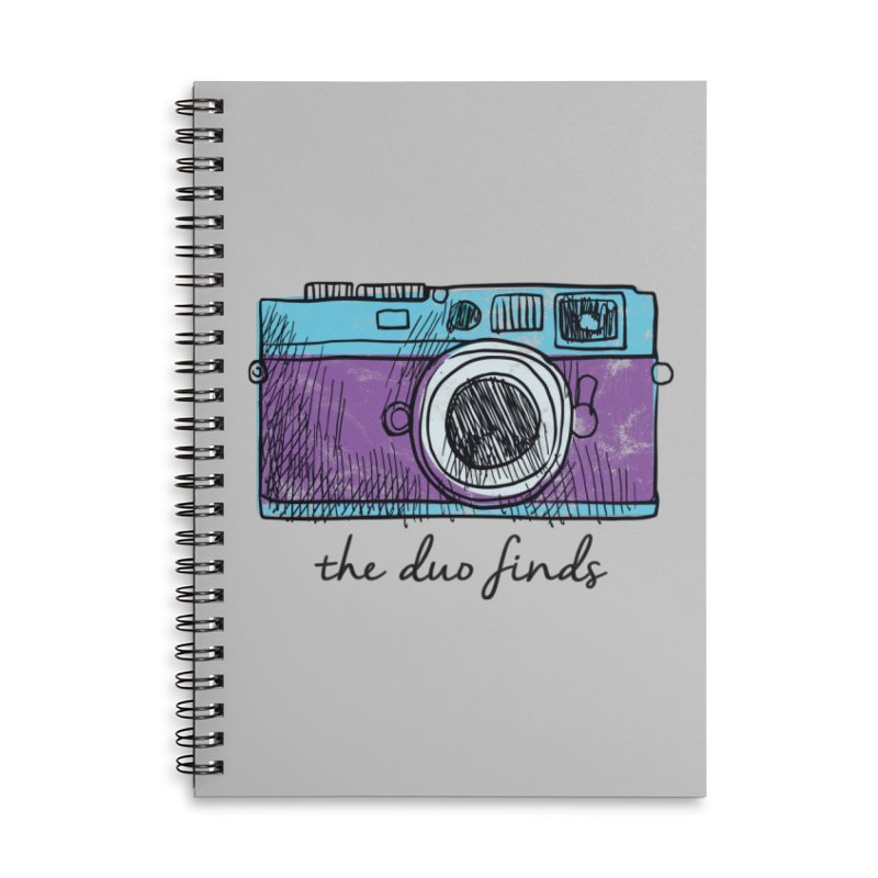 """The Duo Finds """"Camera"""" Logo Accessories Lined Spiral Notebook by The Duo Find's Artist Shop"""