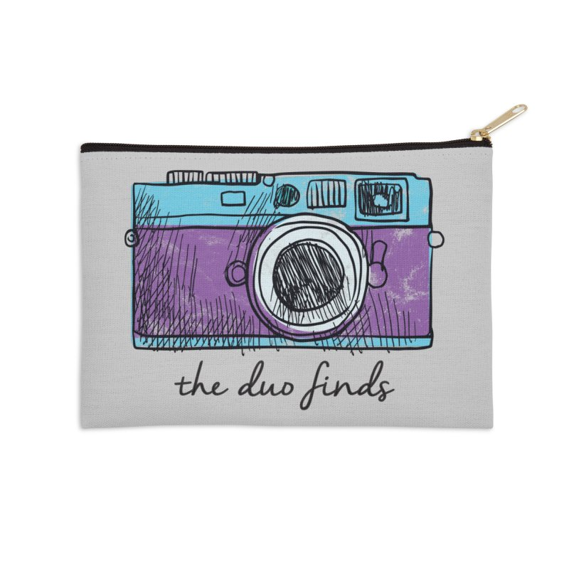 "The Duo Finds ""Camera"" Logo Accessories Zip Pouch by The Duo Find's Artist Shop"
