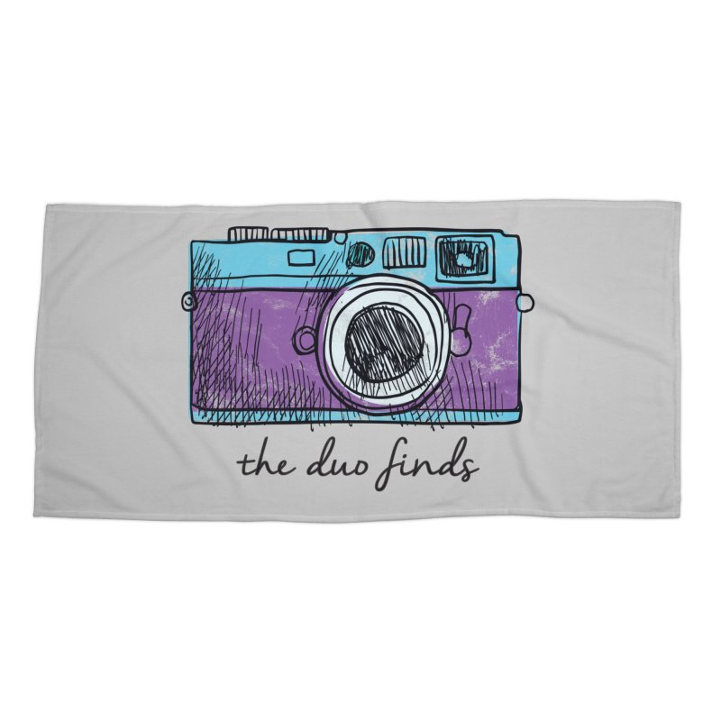 "The Duo Finds ""Camera"" Logo Accessories Beach Towel by The Duo Find's Artist Shop"