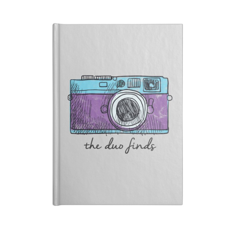 "The Duo Finds ""Camera"" Logo Accessories Lined Journal Notebook by The Duo Find's Artist Shop"