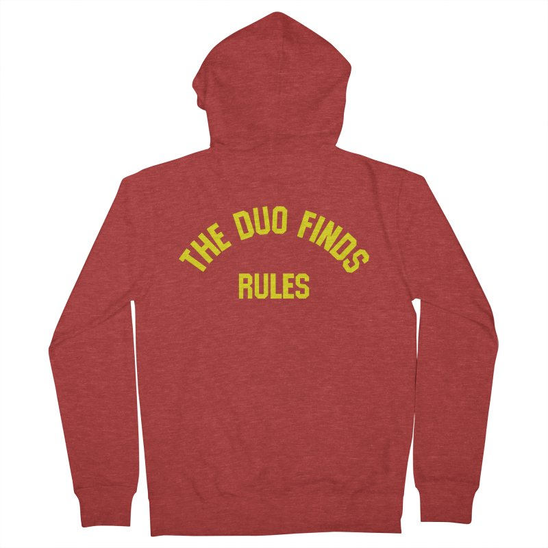 The Duo Finds Rules - Our take on the shirt from Monster Squad! Men's French Terry Zip-Up Hoody by The Duo Find's Artist Shop