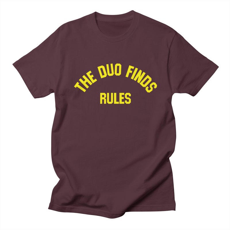 The Duo Finds Rules - Our take on the shirt from Monster Squad! Men's Regular T-Shirt by The Duo Find's Artist Shop