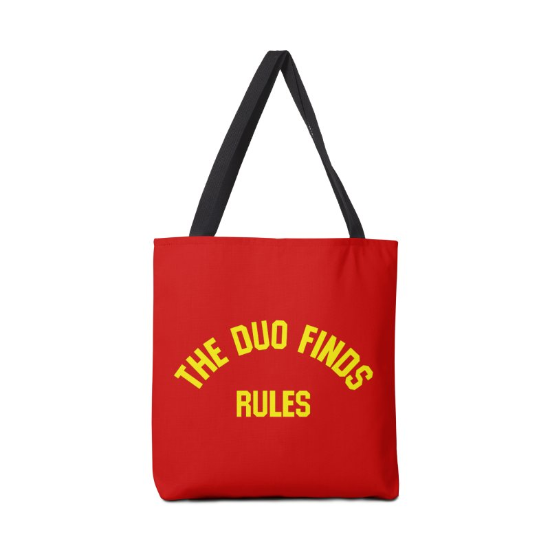 The Duo Finds Rules - Our take on the shirt from Monster Squad! Accessories Tote Bag Bag by The Duo Find's Artist Shop