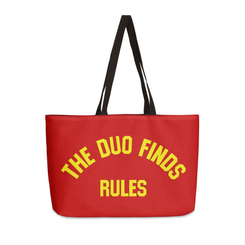 The Duo Finds Rules - Our take on the shirt from Monster Squad! Accessories Bag by The Duo Find's Artist Shop