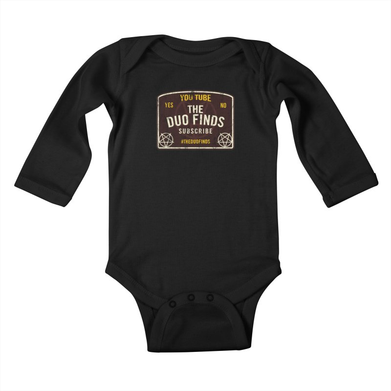 The Duo Finds Ouija Board Kids Baby Longsleeve Bodysuit by The Duo Find's Artist Shop