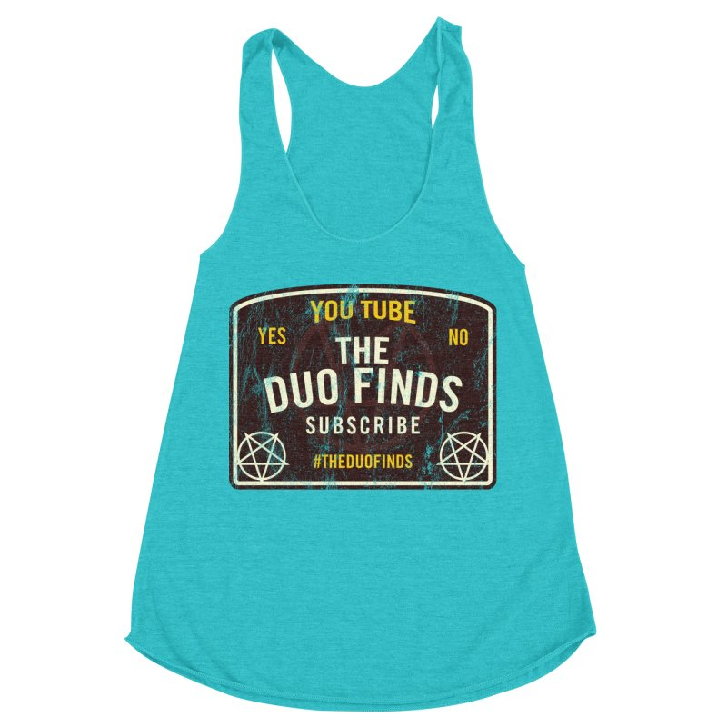 The Duo Finds Ouija Board Women's Racerback Triblend Tank by The Duo Find's Artist Shop
