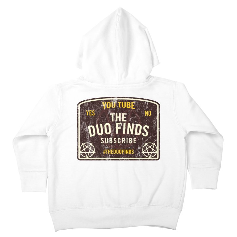 The Duo Finds Ouija Board Kids Toddler Zip-Up Hoody by The Duo Find's Artist Shop