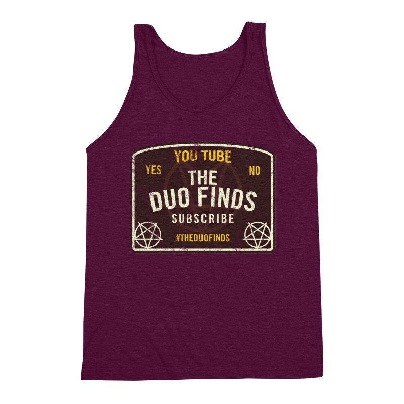 The Duo Finds Ouija Board Men's Triblend Tank by The Duo Find's Artist Shop