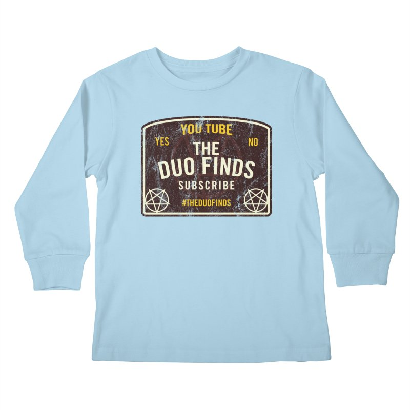 The Duo Finds Ouija Board Kids Longsleeve T-Shirt by The Duo Find's Artist Shop