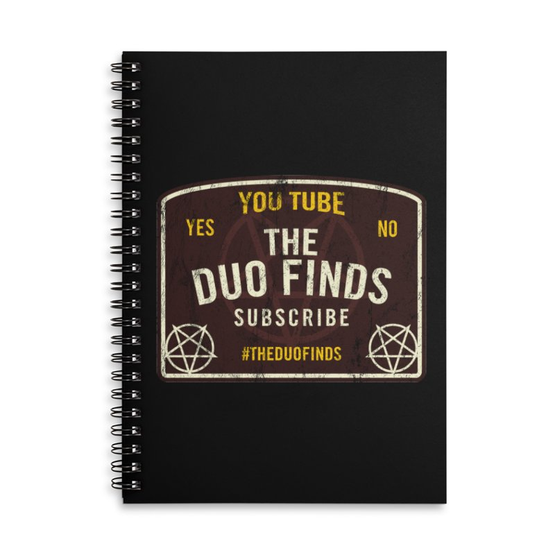 The Duo Finds Ouija Board Accessories Lined Spiral Notebook by The Duo Find's Artist Shop
