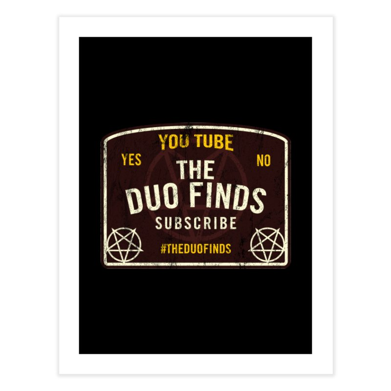 The Duo Finds Ouija Board Home Fine Art Print by The Duo Find's Artist Shop