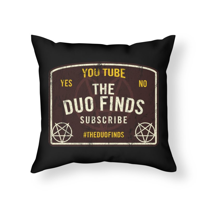 The Duo Finds Ouija Board Home Throw Pillow by The Duo Find's Artist Shop