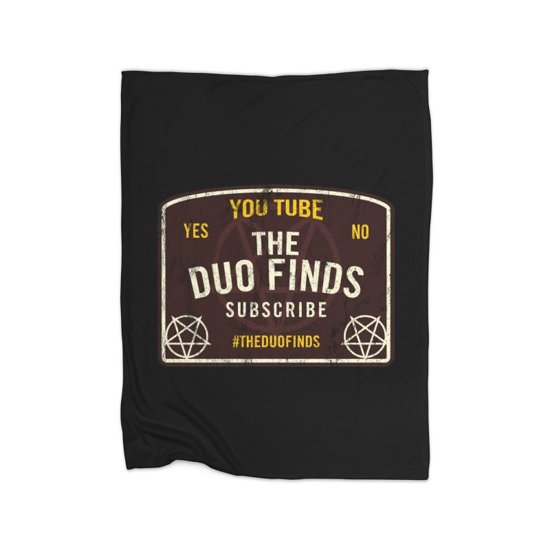 The Duo Finds Ouija Board Home Fleece Blanket Blanket by The Duo Find's Artist Shop
