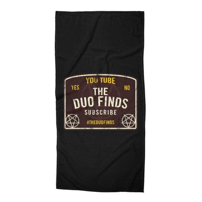 The Duo Finds Ouija Board Accessories Beach Towel by The Duo Find's Artist Shop