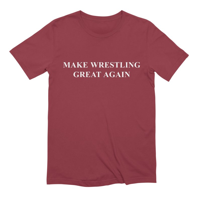 Make Wrestling Great Again (The Duo Finds MAGA parody) Men's Extra Soft T-Shirt by The Duo Find's Artist Shop