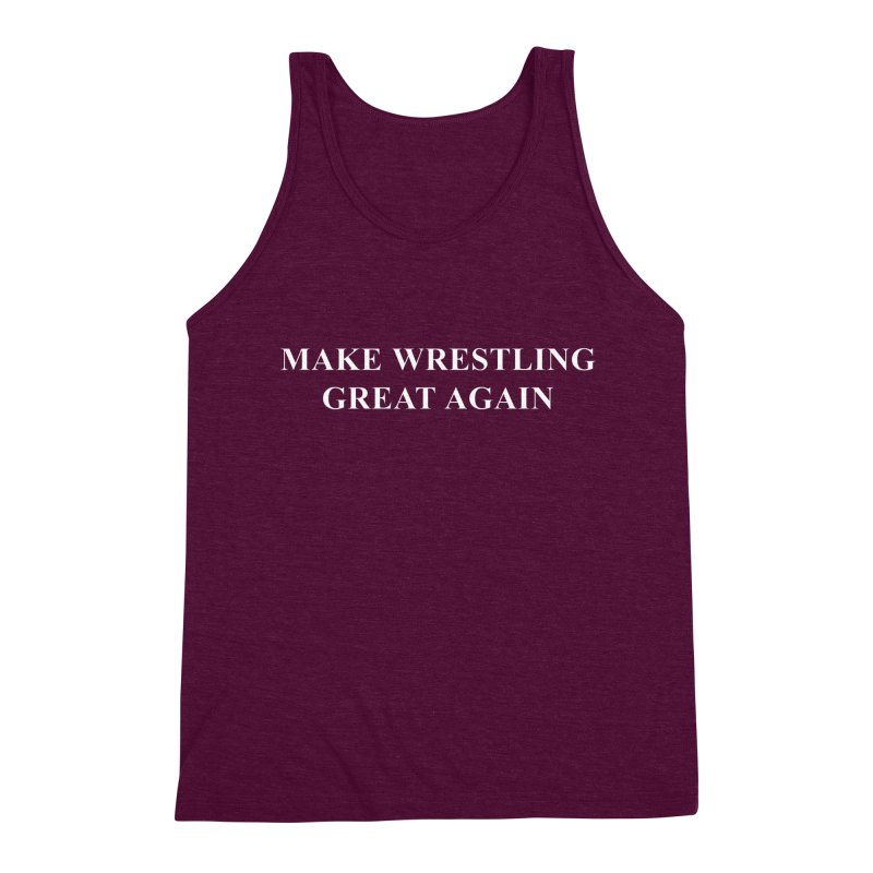 Make Wrestling Great Again (The Duo Finds MAGA parody) Men's Triblend Tank by The Duo Find's Artist Shop