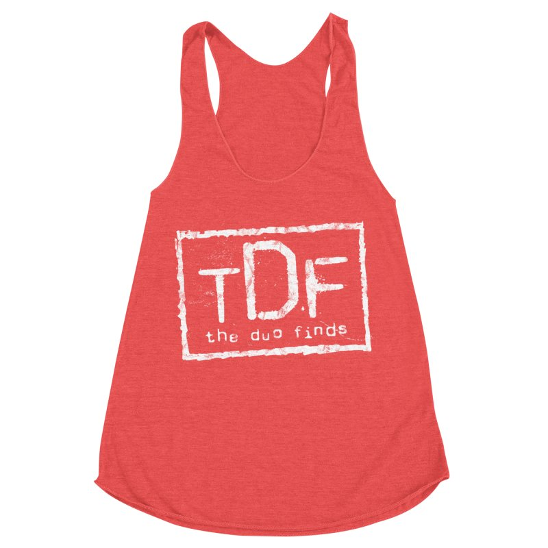 TDF for Life. Spoof. Get it? Women's Racerback Triblend Tank by The Duo Find's Artist Shop