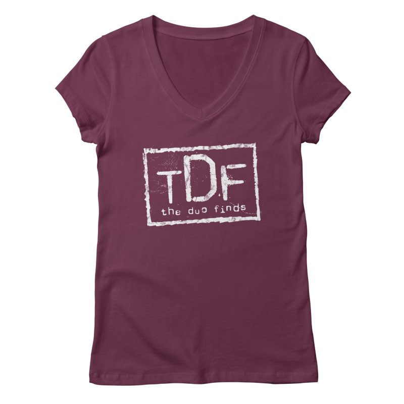 TDF for Life. Spoof. Get it? Women's Regular V-Neck by The Duo Find's Artist Shop
