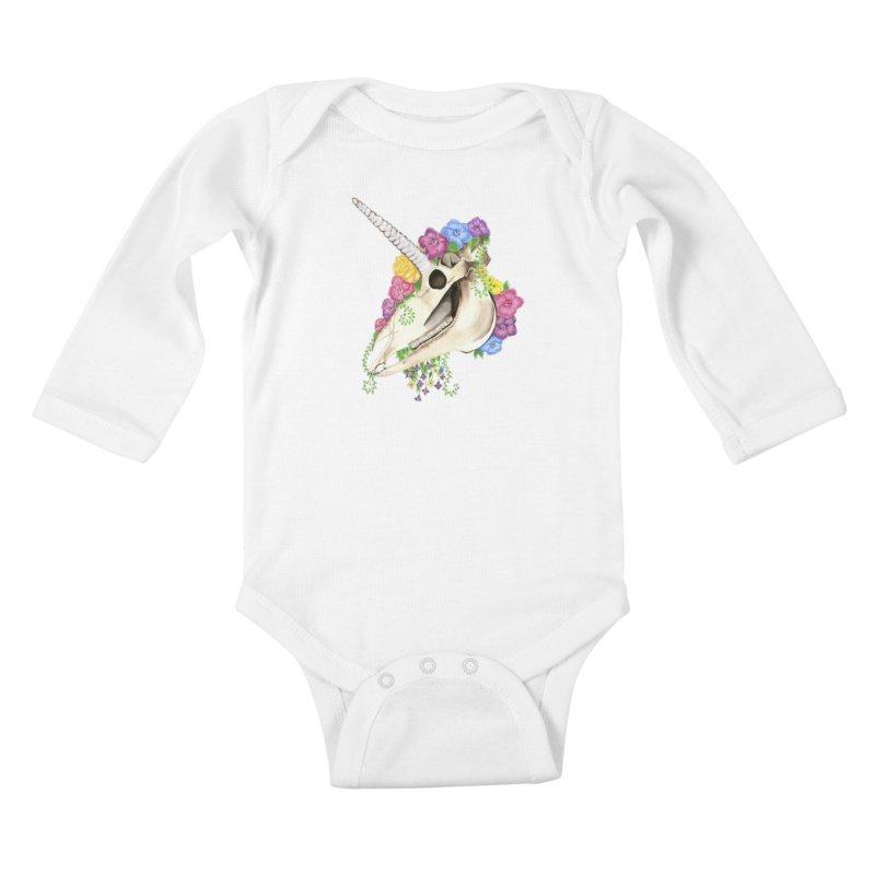Uniskull Kids Baby Longsleeve Bodysuit by Dura Mater