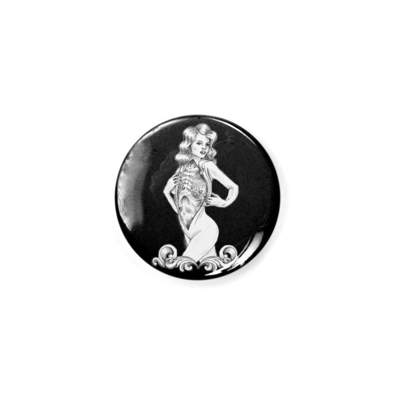 Anatomy Pinup Girl Accessories Button by Dura Mater