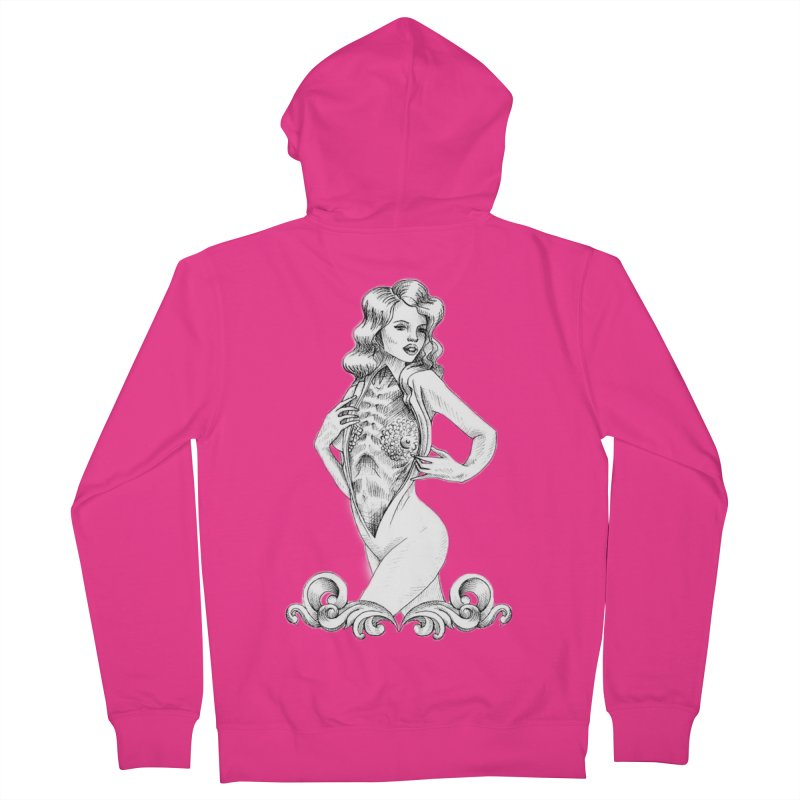 Anatomy Pinup Girl Men's French Terry Zip-Up Hoody by Dura Mater