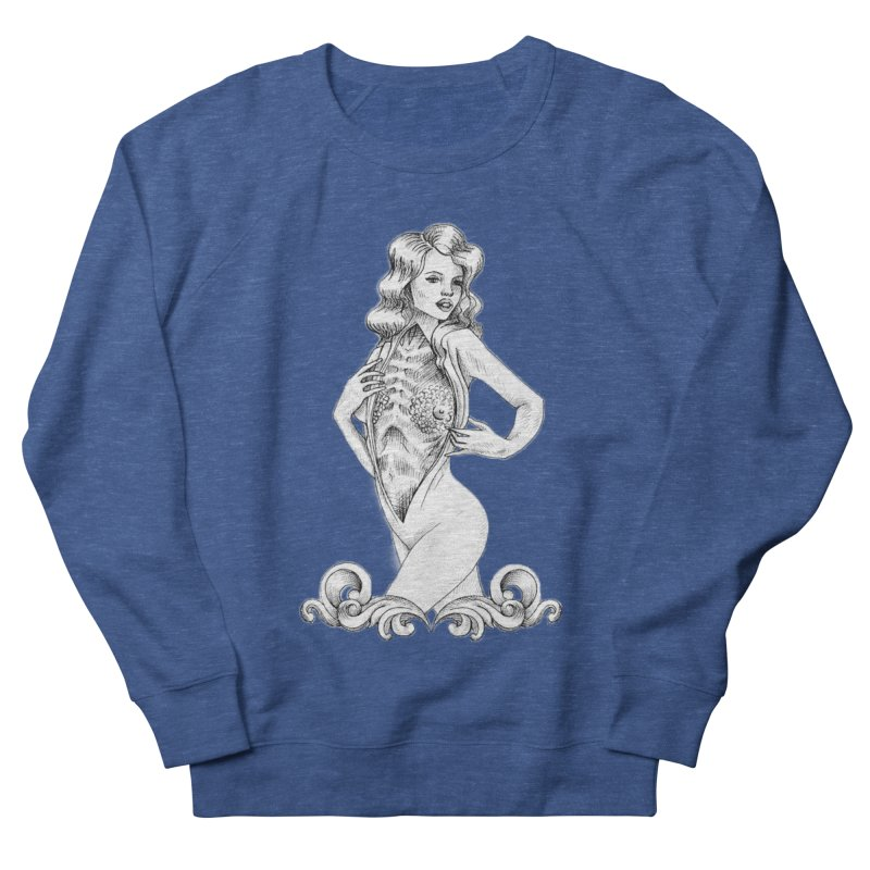 Anatomy Pinup Girl Men's French Terry Sweatshirt by Dura Mater