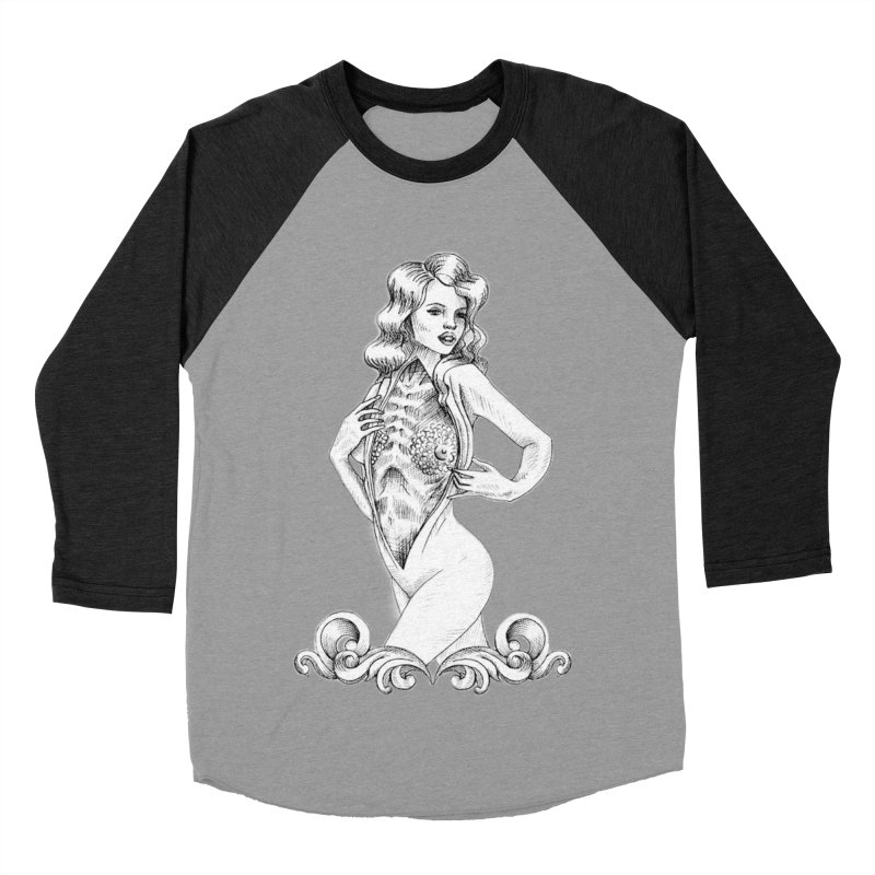 Anatomy Pinup Girl Women's Baseball Triblend Longsleeve T-Shirt by Dura Mater