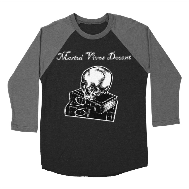 Mortui Vivos Docent Women's Baseball Triblend Longsleeve T-Shirt by Dura Mater