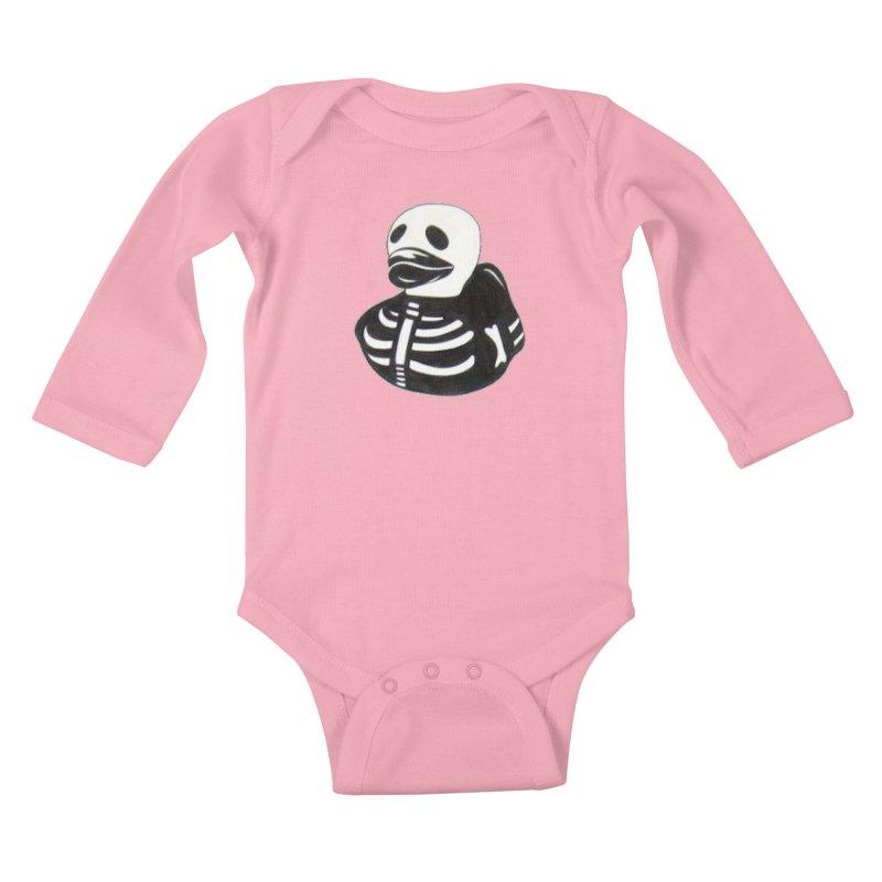 Dead Duck Kids Baby Longsleeve Bodysuit by Dura Mater