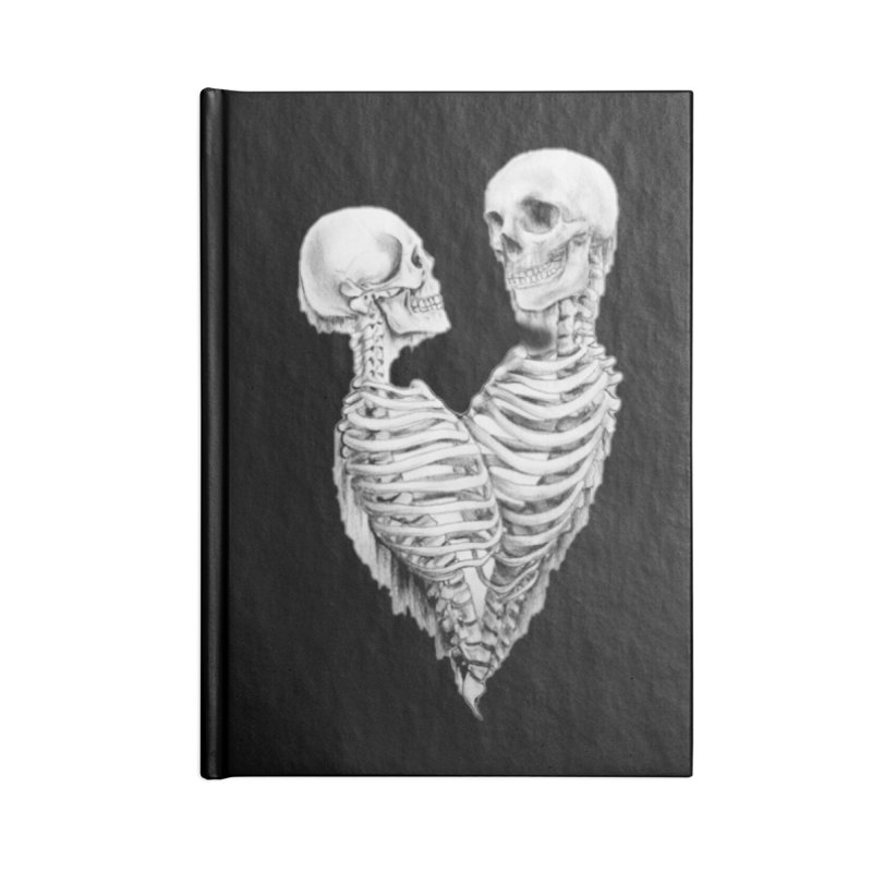 Skeleheart Accessories Blank Journal Notebook by Dura Mater