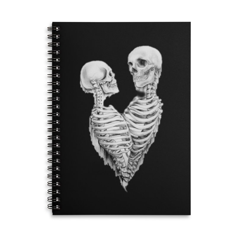 Skeleheart Accessories Lined Spiral Notebook by Dura Mater