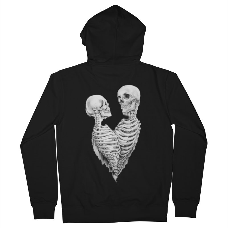 Skeleheart Women's French Terry Zip-Up Hoody by Dura Mater