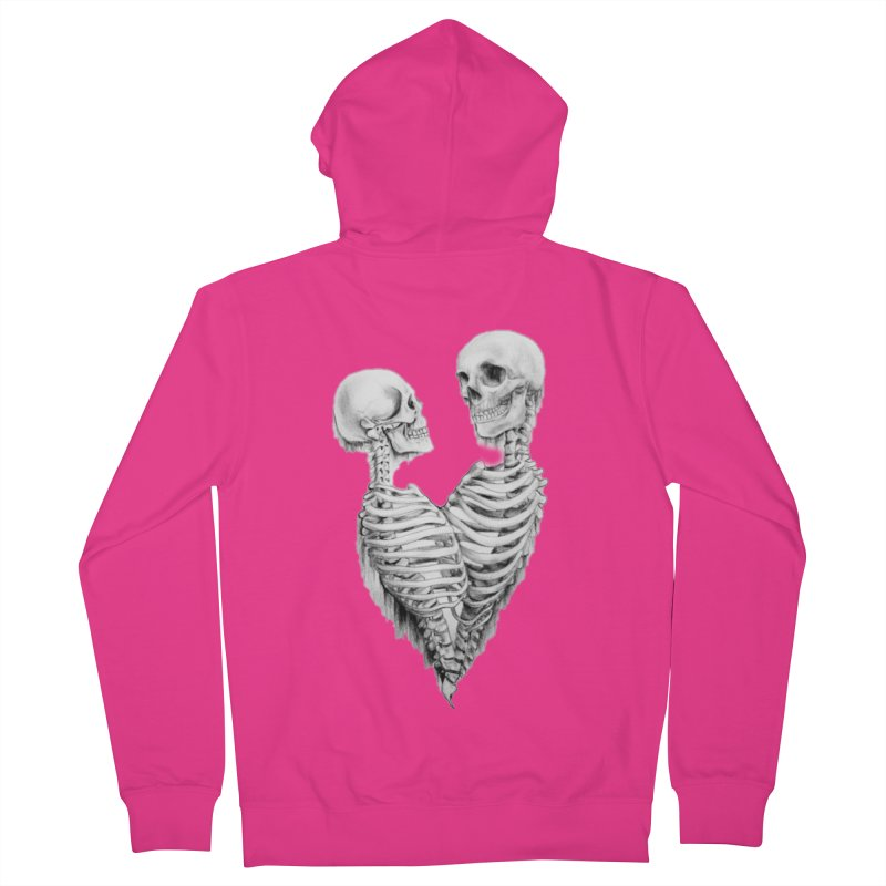 Skeleheart Men's French Terry Zip-Up Hoody by Dura Mater