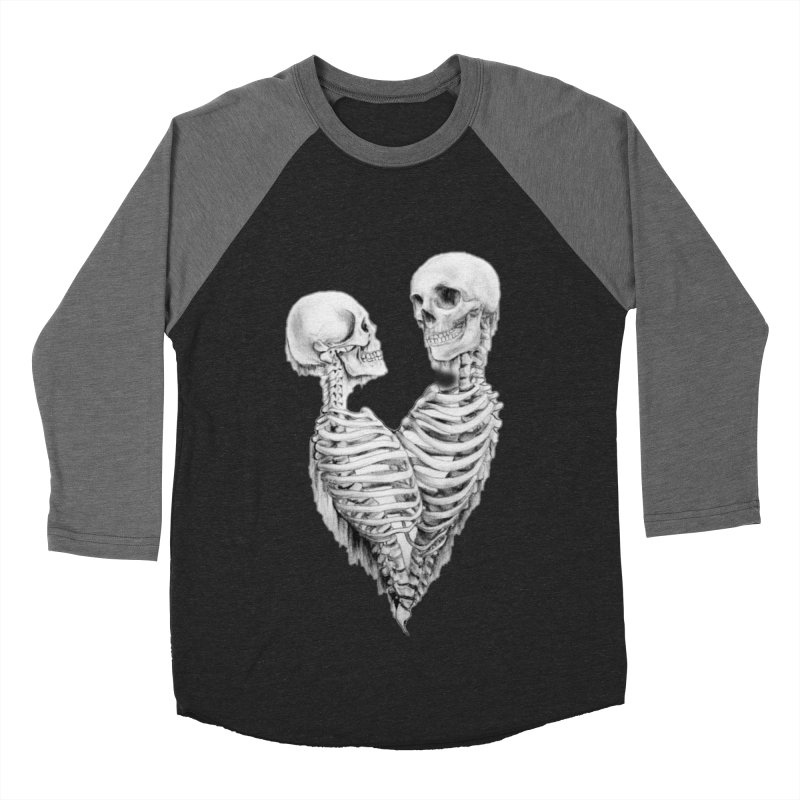 Skeleheart Women's Baseball Triblend Longsleeve T-Shirt by Dura Mater