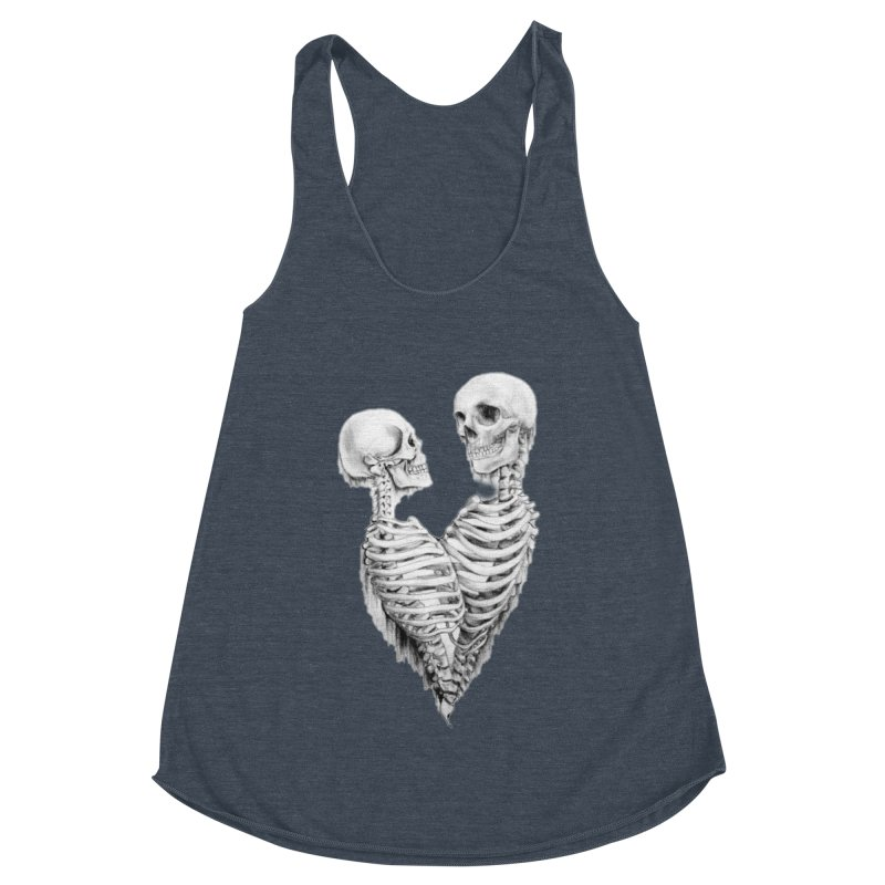 Skeleheart Women's Racerback Triblend Tank by Dura Mater