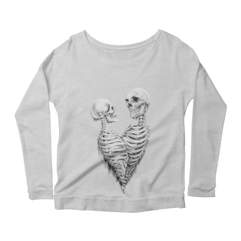 Skeleheart Women's Scoop Neck Longsleeve T-Shirt by Dura Mater