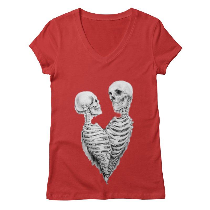 Skeleheart Women's Regular V-Neck by Dura Mater