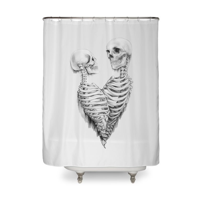 Skeleheart Home Shower Curtain by Dura Mater
