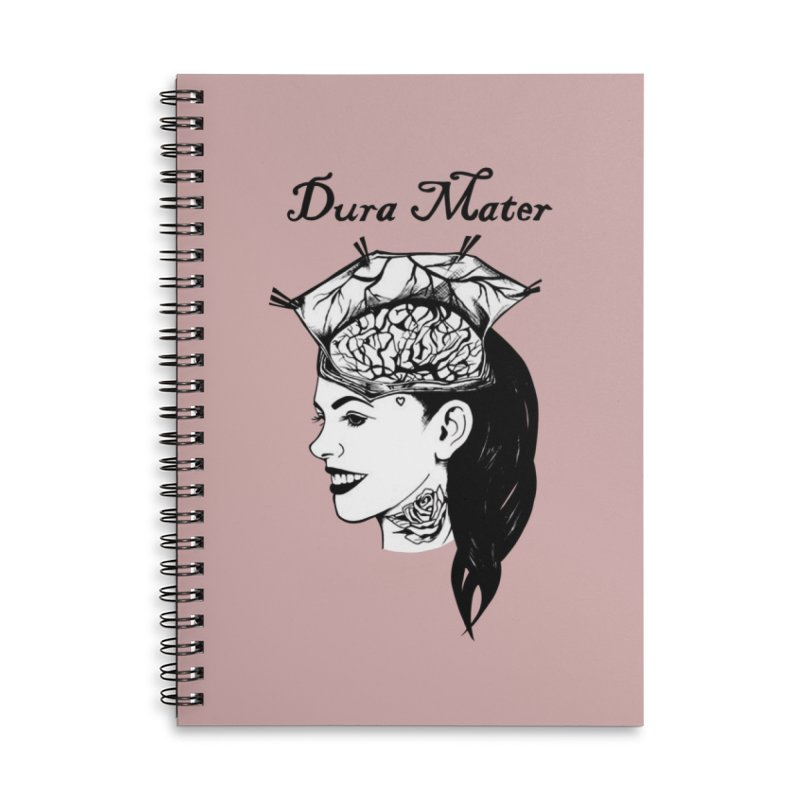 Dura Mater Accessories Lined Spiral Notebook by Dura Mater