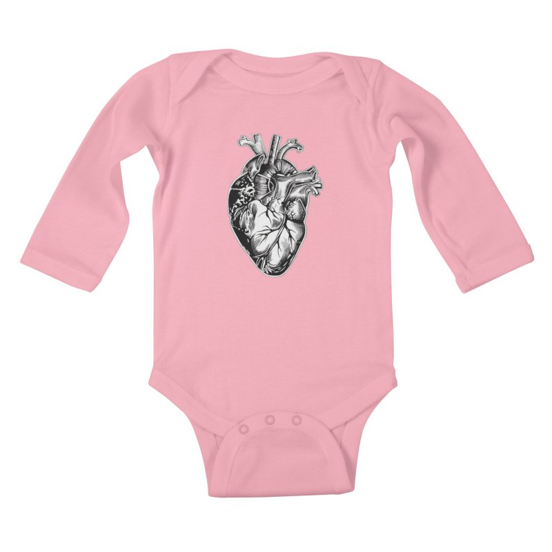 iheartautopsy Kids Baby Longsleeve Bodysuit by Dura Mater
