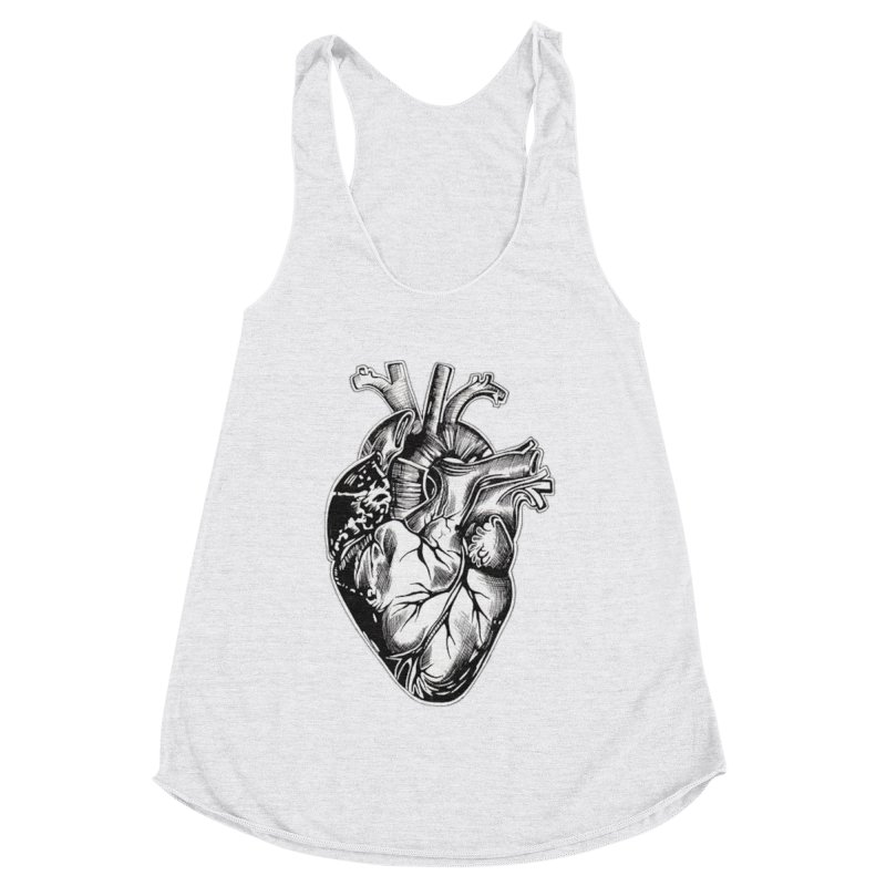iheartautopsy Women's Racerback Triblend Tank by Dura Mater