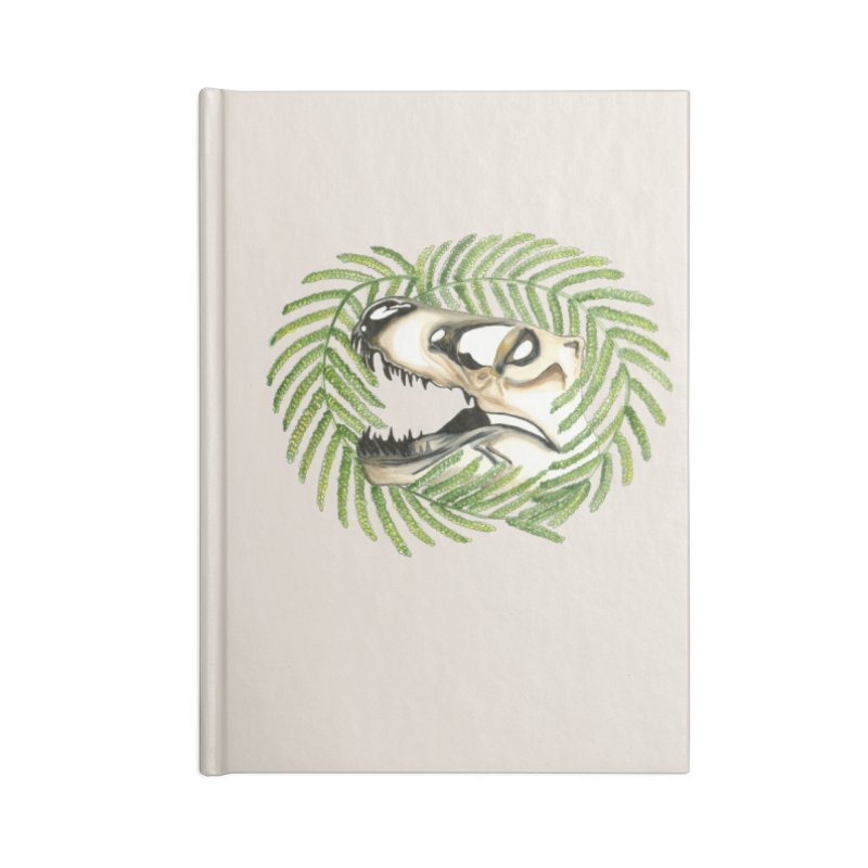 Dino Skull Accessories Blank Journal Notebook by Dura Mater