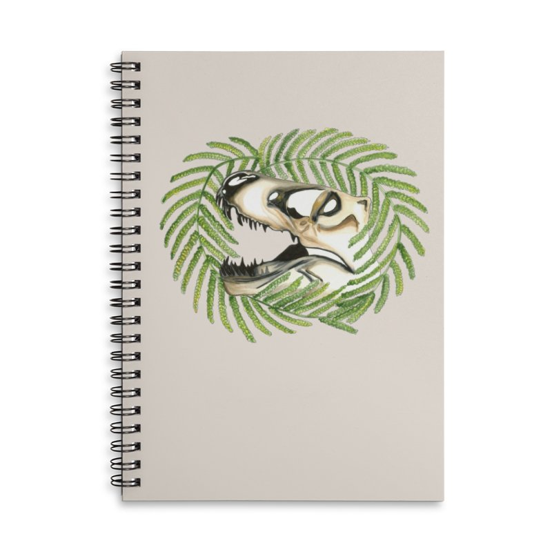Dino Skull Accessories Lined Spiral Notebook by Dura Mater