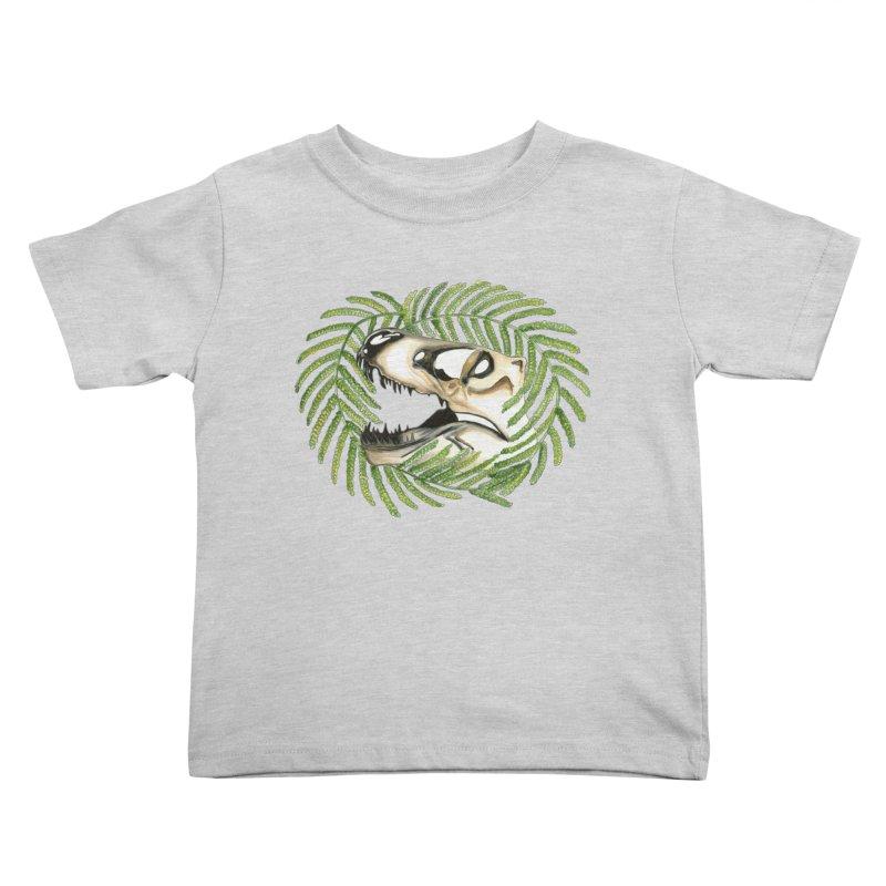 Dino Skull Kids Toddler T-Shirt by Dura Mater