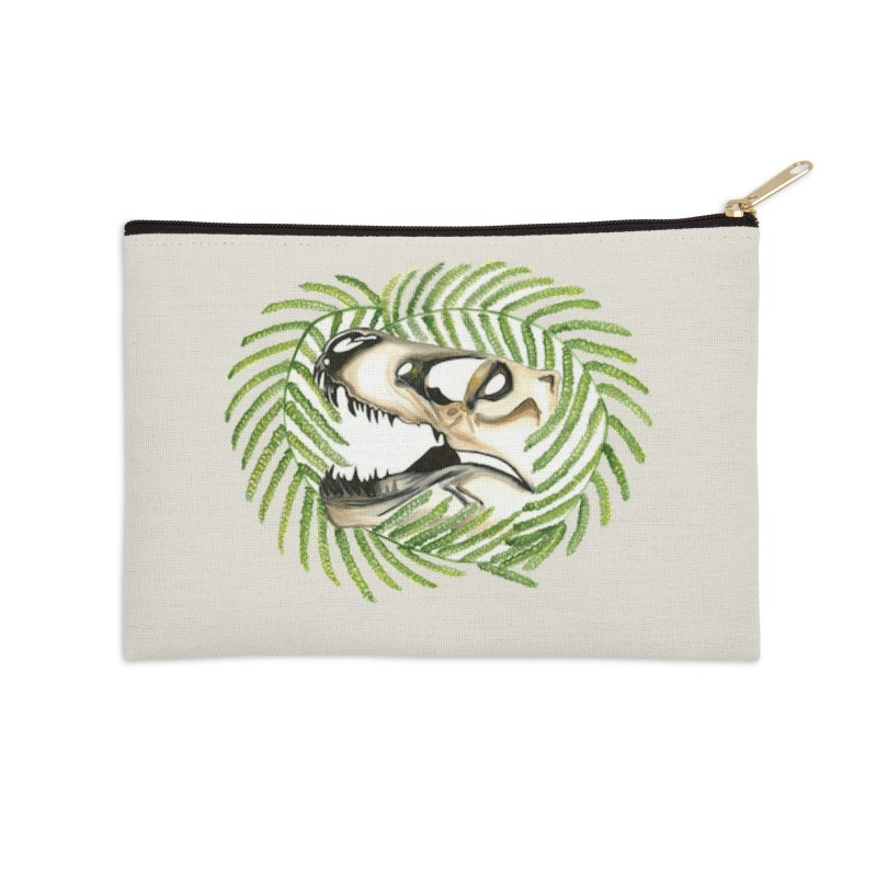Dino Skull Accessories Zip Pouch by Dura Mater