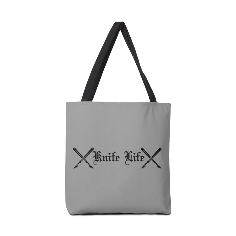 Knife Life - black font Accessories Tote Bag Bag by Dura Mater