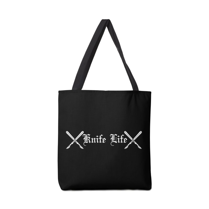 Knife Life - White font Accessories Tote Bag Bag by Dura Mater
